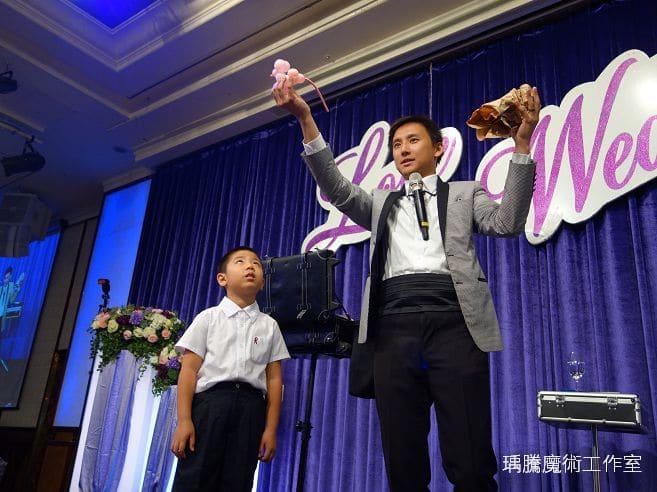 婚禮魔術表演|長榮桂冠婚禮魔術表演